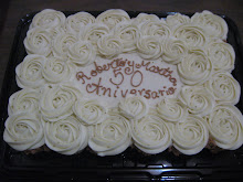 Pastel de cupcakes aniversario de bodas