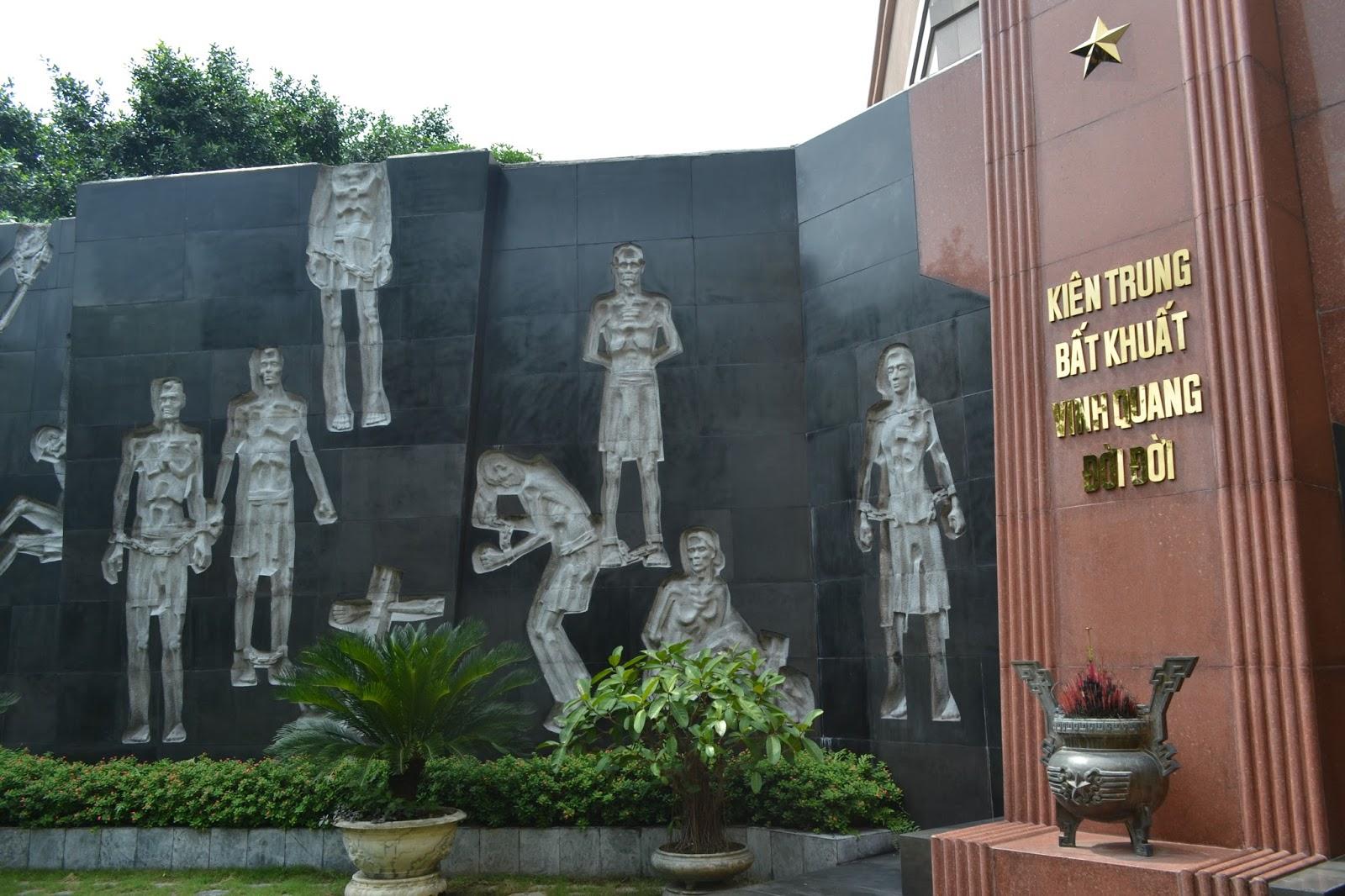 Memorial inside The Hỏa Lò Prison