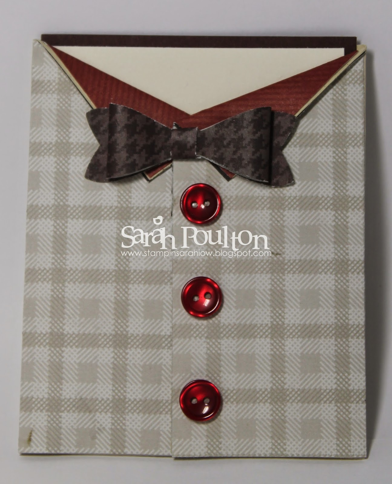 Shirt design card - The Inside Card Slips Out Of The Shirt Base I Used The Age Awareness Stamp Set And The Bravo Stamp Set To Create The Sentiment Stamped In Chocolate Chip