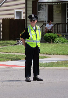 best cop ever, reflective vest, happy, smiling