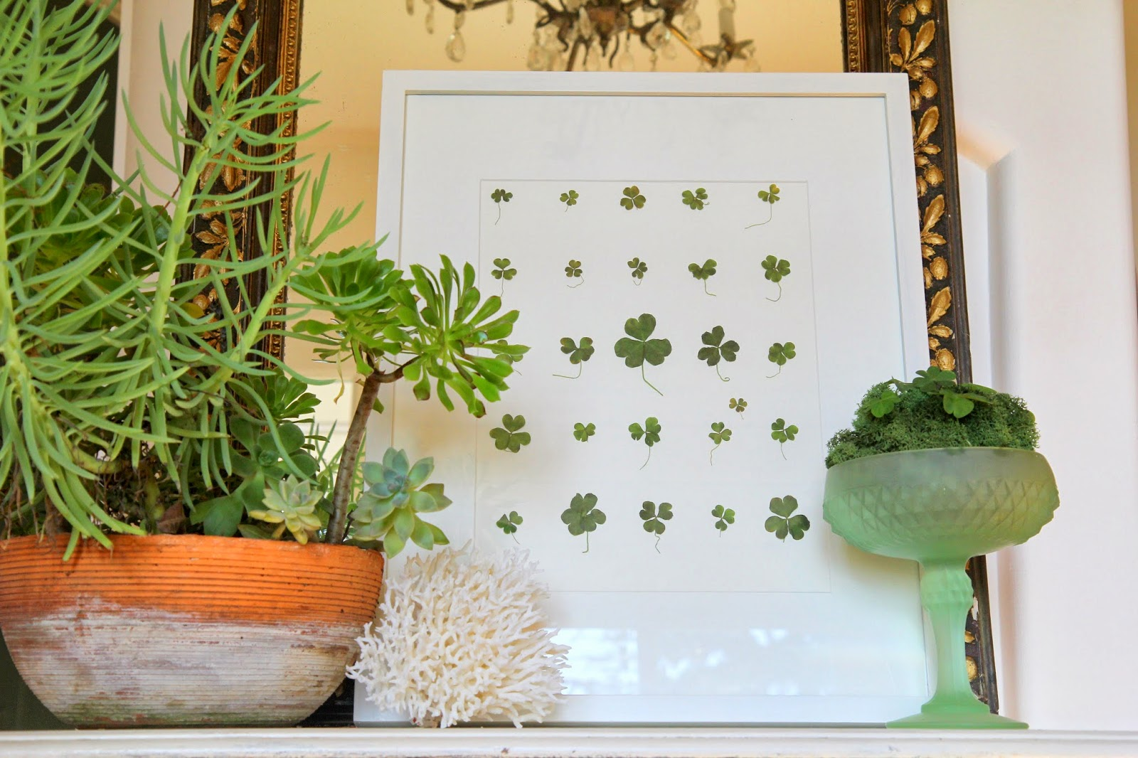 Foyer Decor -- Shamrocks for St. Patrick's Day