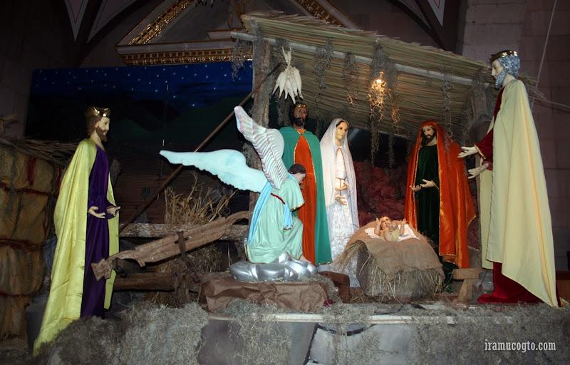 Nacimiento en la iglesia san Jeronimo de Iramuco, Gto