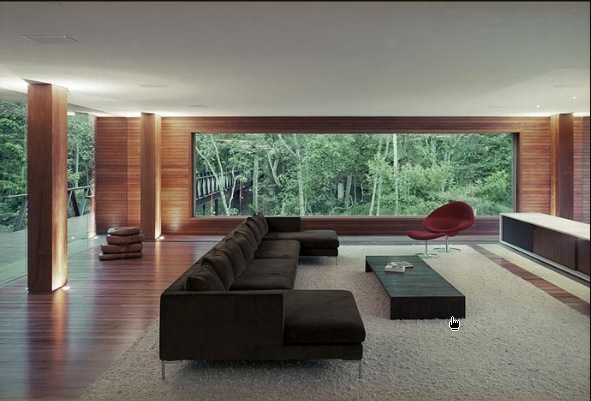 Bedroom design blog modern design glass house in the for Modern glass house floor plans