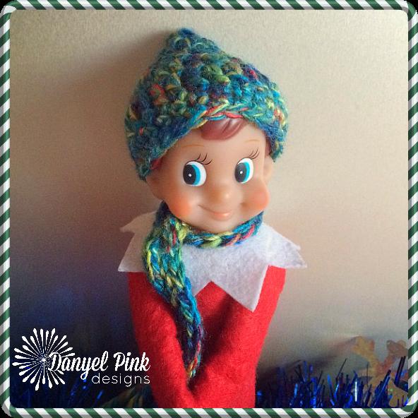 Danyel Pink Designs Crochet Pattern Shelf Elf Pixie Hat Scarf