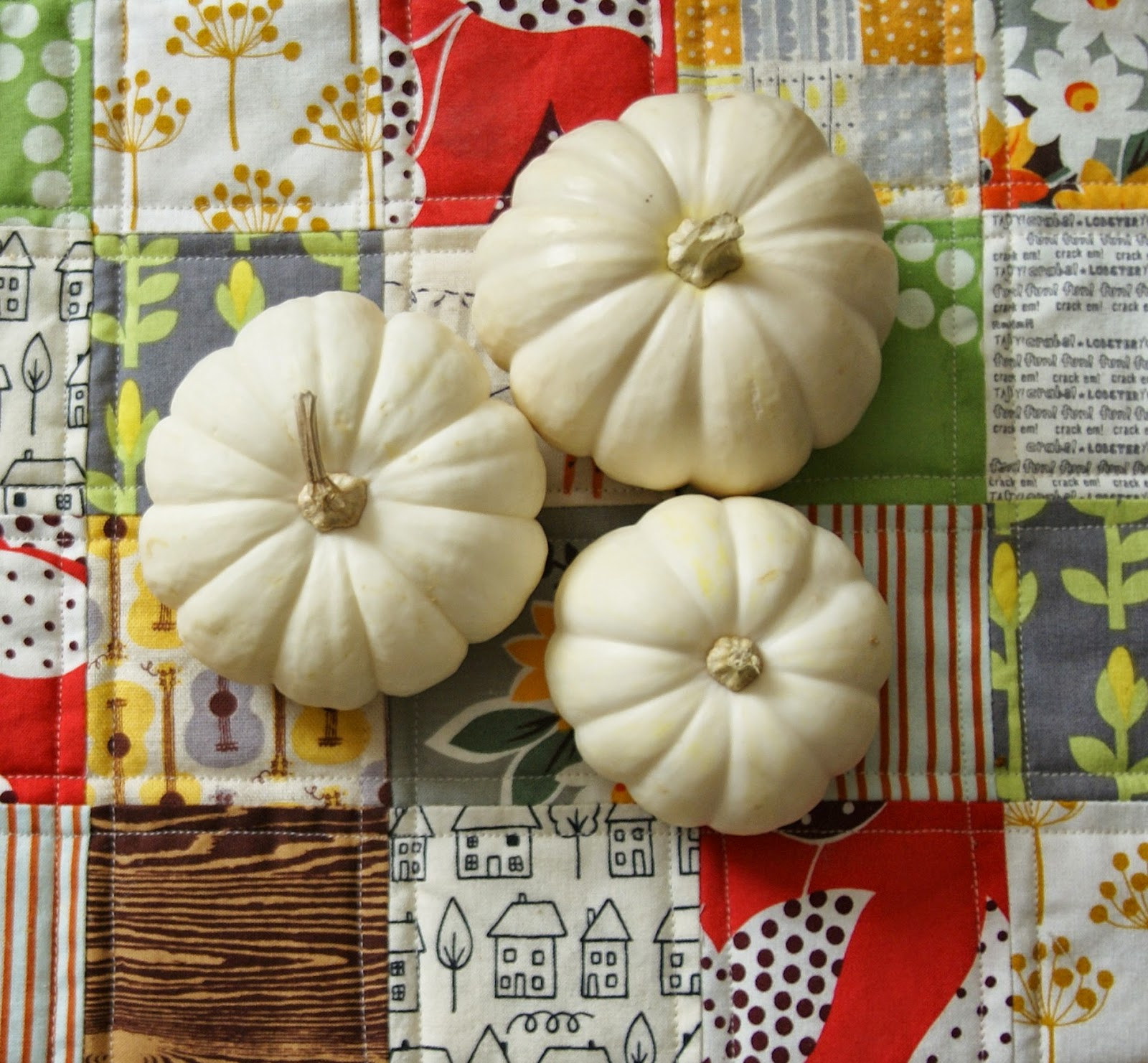 Fall Pumpkins Table Runner by Heidi Staples of Fabric Mutt