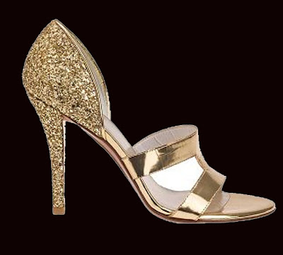 Gold and glamour Linedrive dress sandal