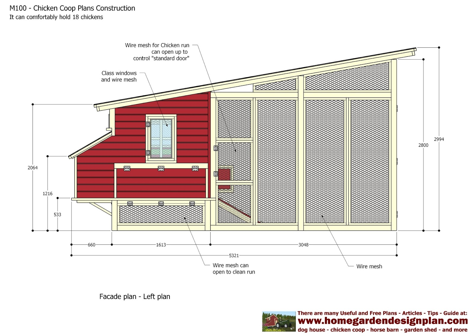 Home garden plans m100 chicken coop plans construction for How to build a chicken hutch