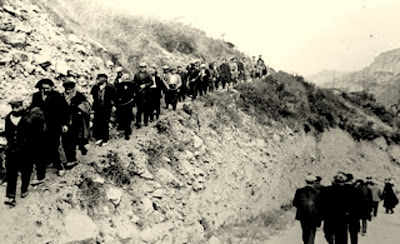 presos mineros colonia sant corneli minas de figols carbones de berg
