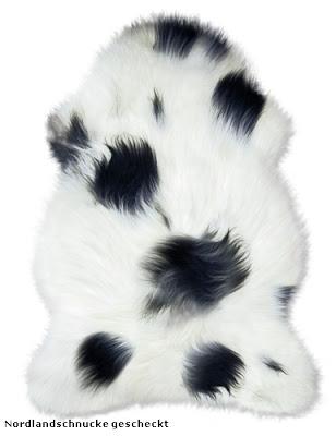 Lammfelle schwarz weiß