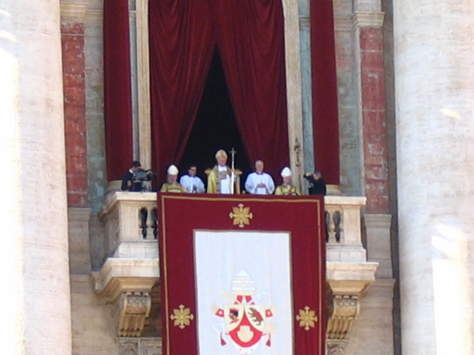 The Pope addressing the crowd on Christmas Day