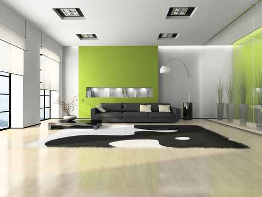 Green Living Room Interior Design 512 x 384