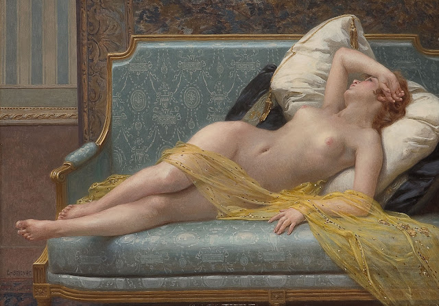 Oppvakningen,beautiful painting,Guillaume Seignac