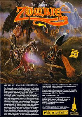 Anuncio del Zombie Dragon en la White Dwarf
