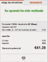 Apuestas Deportivas Rosberg Formula 1 – Gran Premio de Australia Luckia