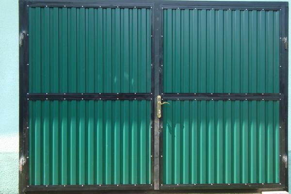 Ворота из уголка и профлиста