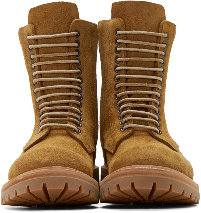 Rick Owens Yellow Suede Goodyear Flex Boots Shoes Srping Summer 2016