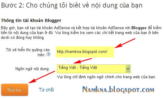 Cách đăng ký Google AdSense cho Blogspot