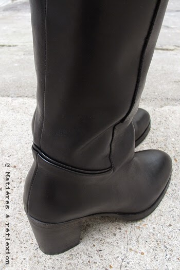 Bottes en cuir noir Atelier do Sapato