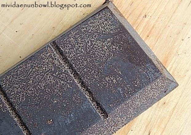 Consistencia harinosa de tableta de chocolate de Módica
