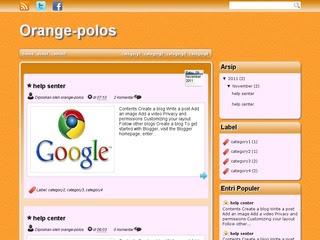 Orange Polos Blogger Template