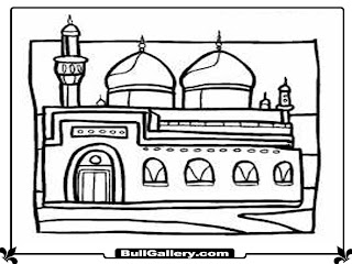 Mosque Printable Kids Coloring Pages For Free