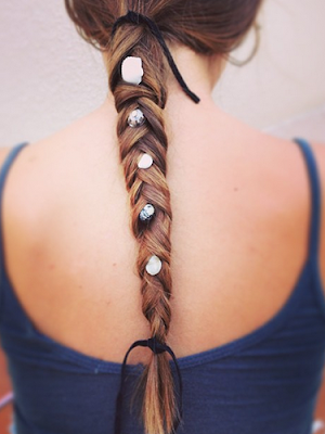 Simple Embellished Braid Long Hairstyle