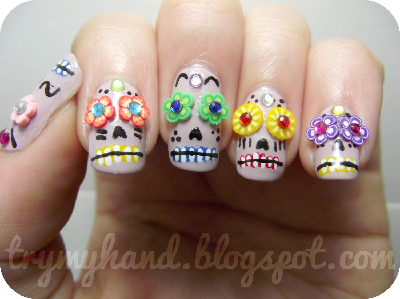 Try my hand notd dia de los muertos sugar skulls notd dia de los muertos sugar skulls prinsesfo Images
