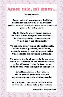 poema amor mio mi amor de jaime sabines