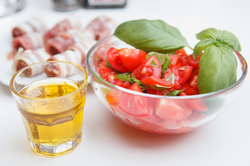 Rezept Datiles con Bacon, Bruschetta, mediterane Küche, Food, Foodblogger