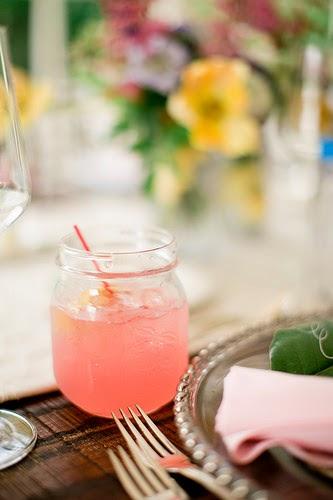 Flavored Lemonade in a Mason Jar