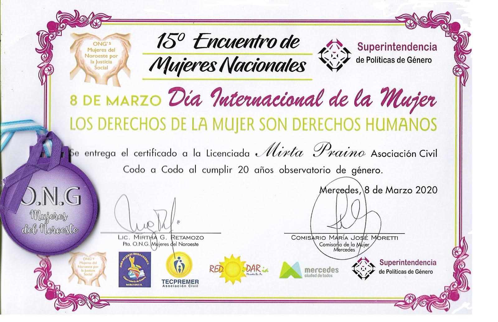 15 Encuentro de Mujeres Nacional Dia Internacional de la Mujer