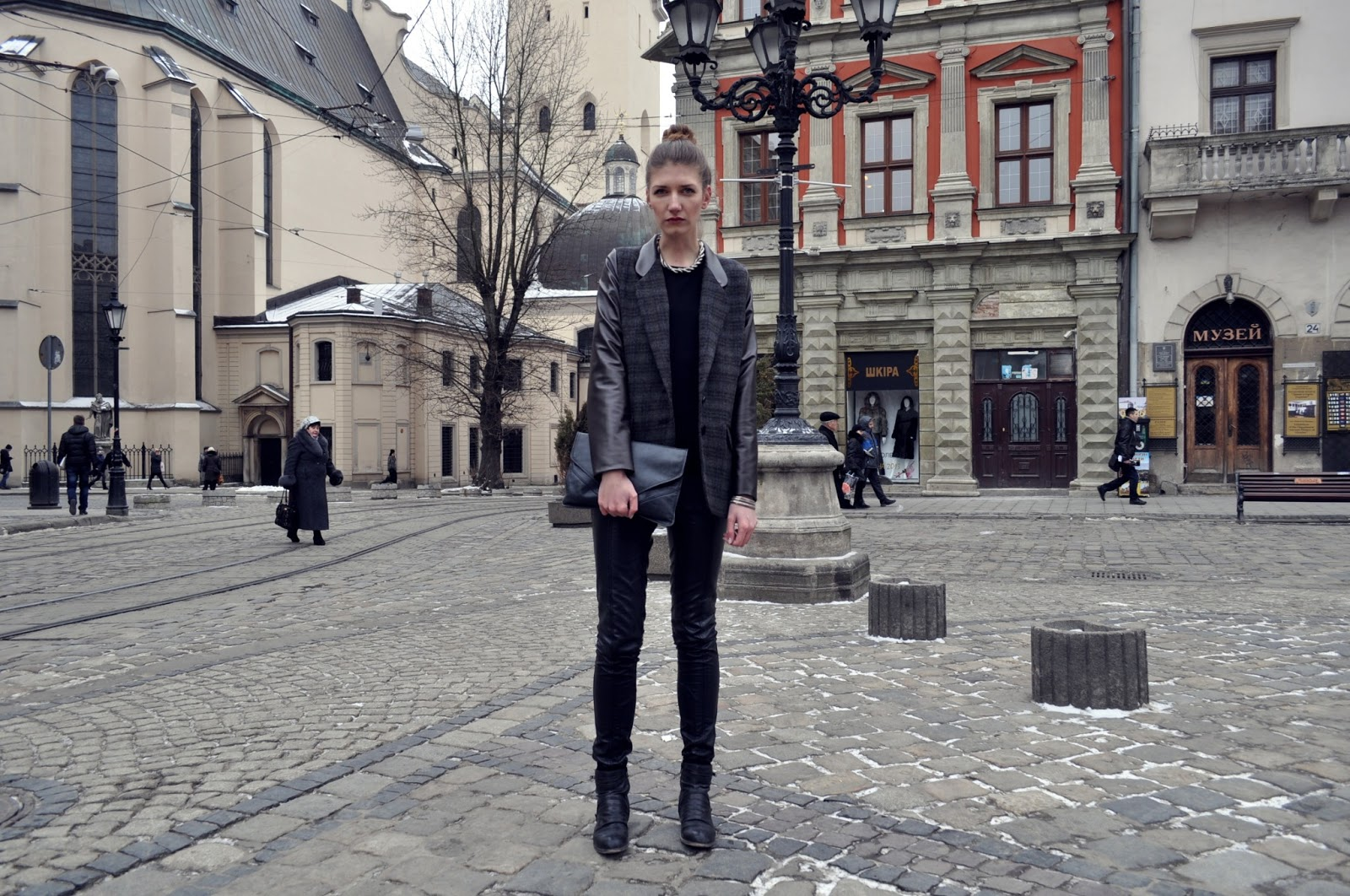 Yulia si lviv outfit 1 or another total leather and heres my first lviv outfit do you like my new jacket with brown leather sleeves and collar my mom made it for me i totally love it publicscrutiny Gallery