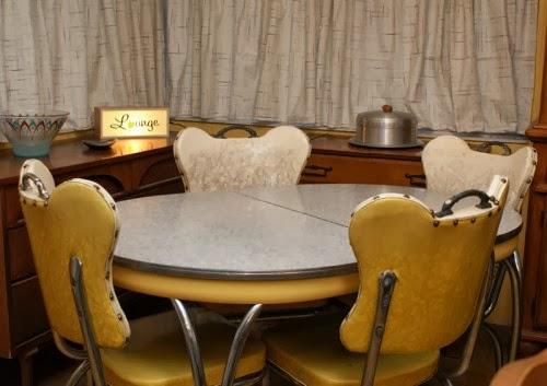 1950s yellow dinette set