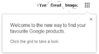 Google Grid Menu