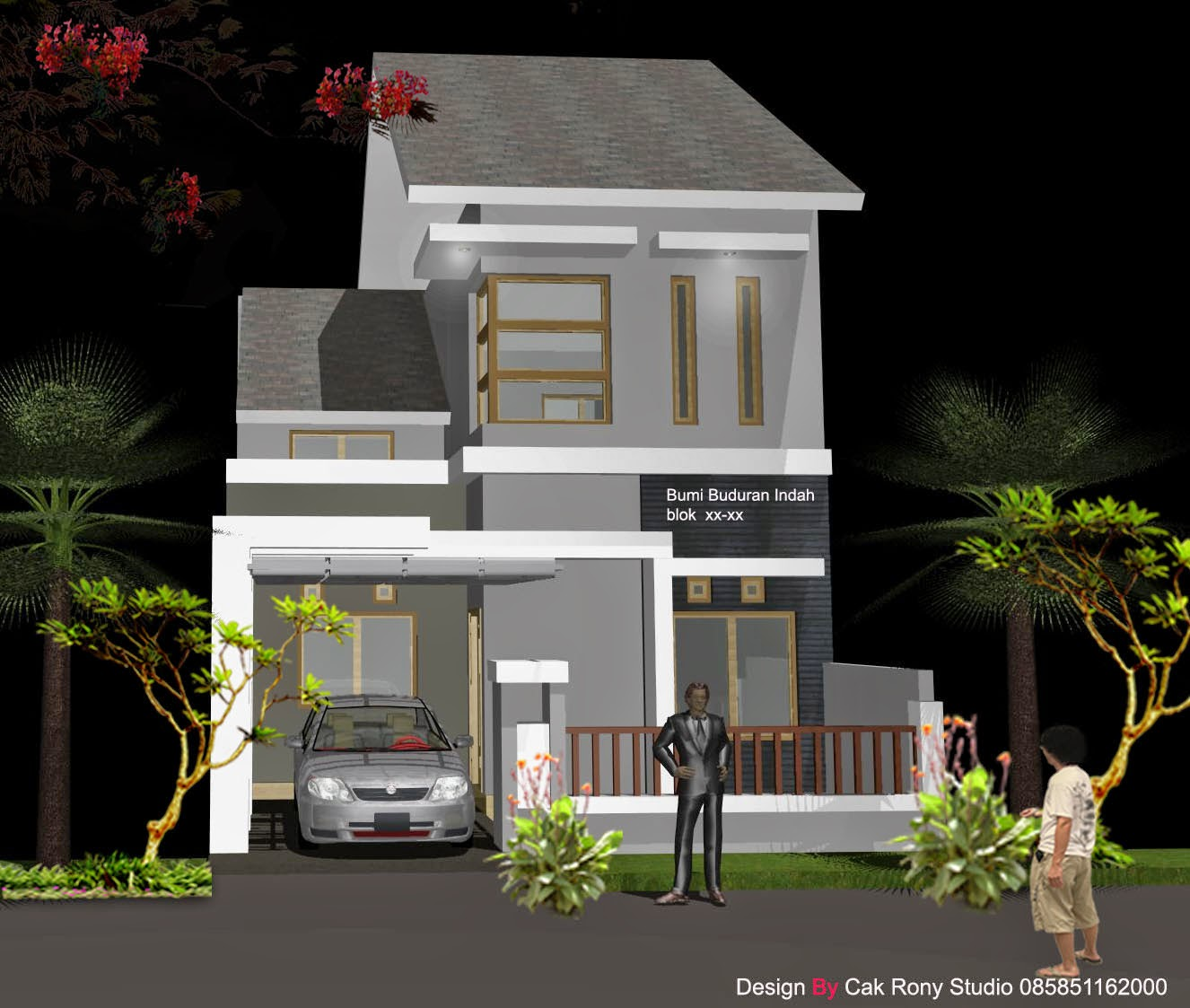Gambar Desain Rumah Minimalis 2 Lantai Type 27 Terbaru Desain