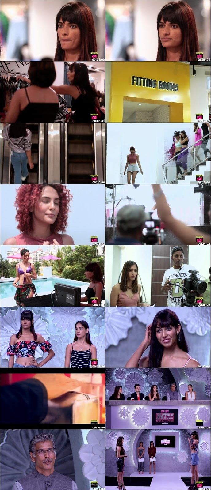 Screenshots Of Hindi Show India's Next Top Model 2018 Episode 08 300MB 720P HD