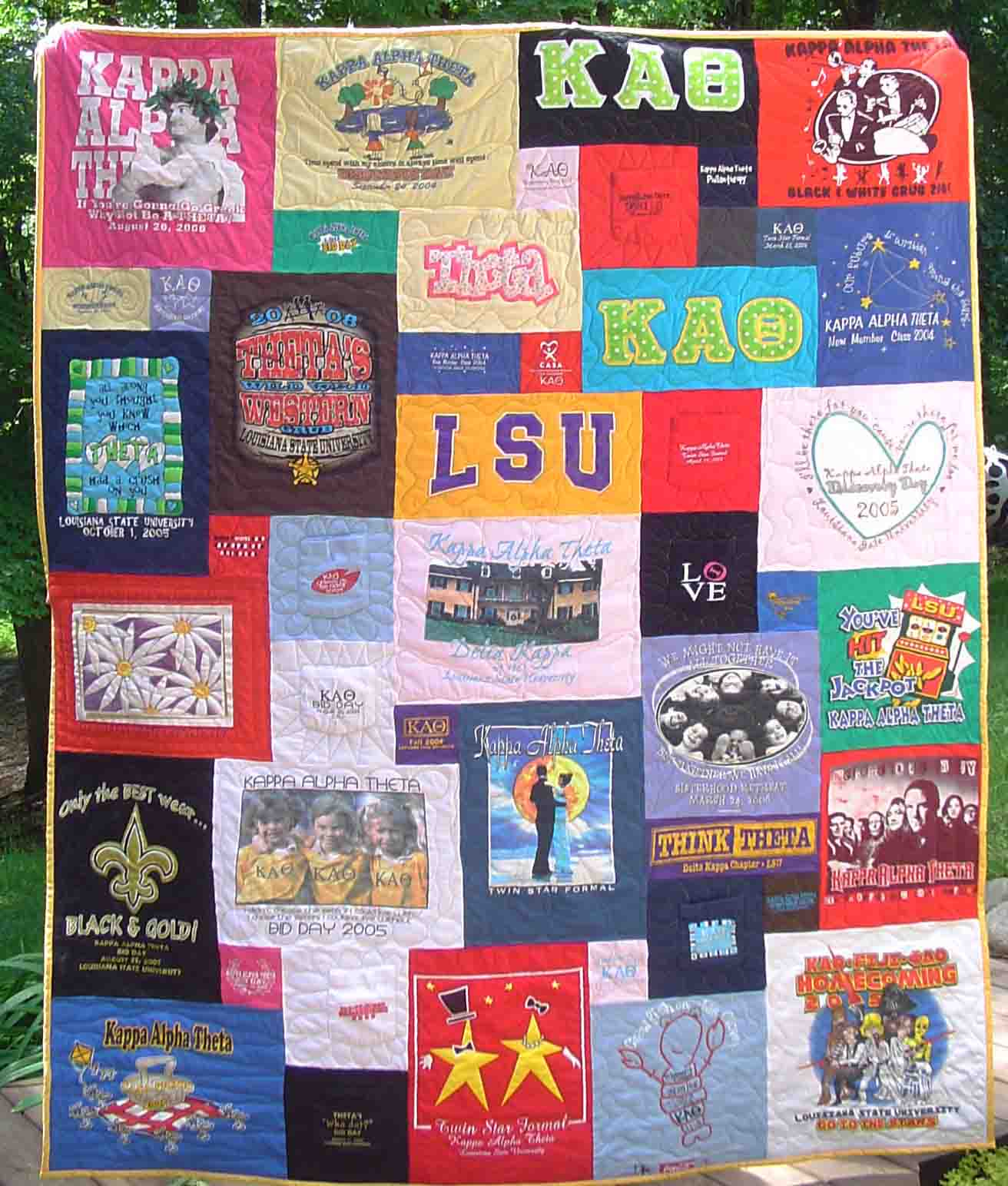 It 39 s all happening t shirt quilt for How to make t shirt quilts easy