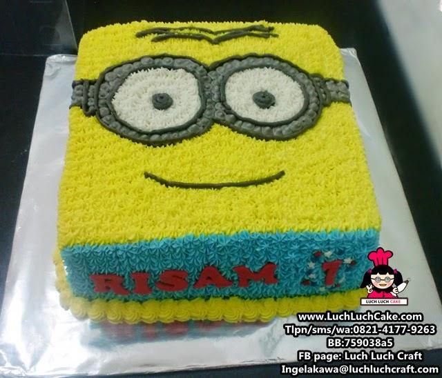 Luch Luch Cake: Kue Tart Minion Buttercream Lucu Daerah Surabaya ...