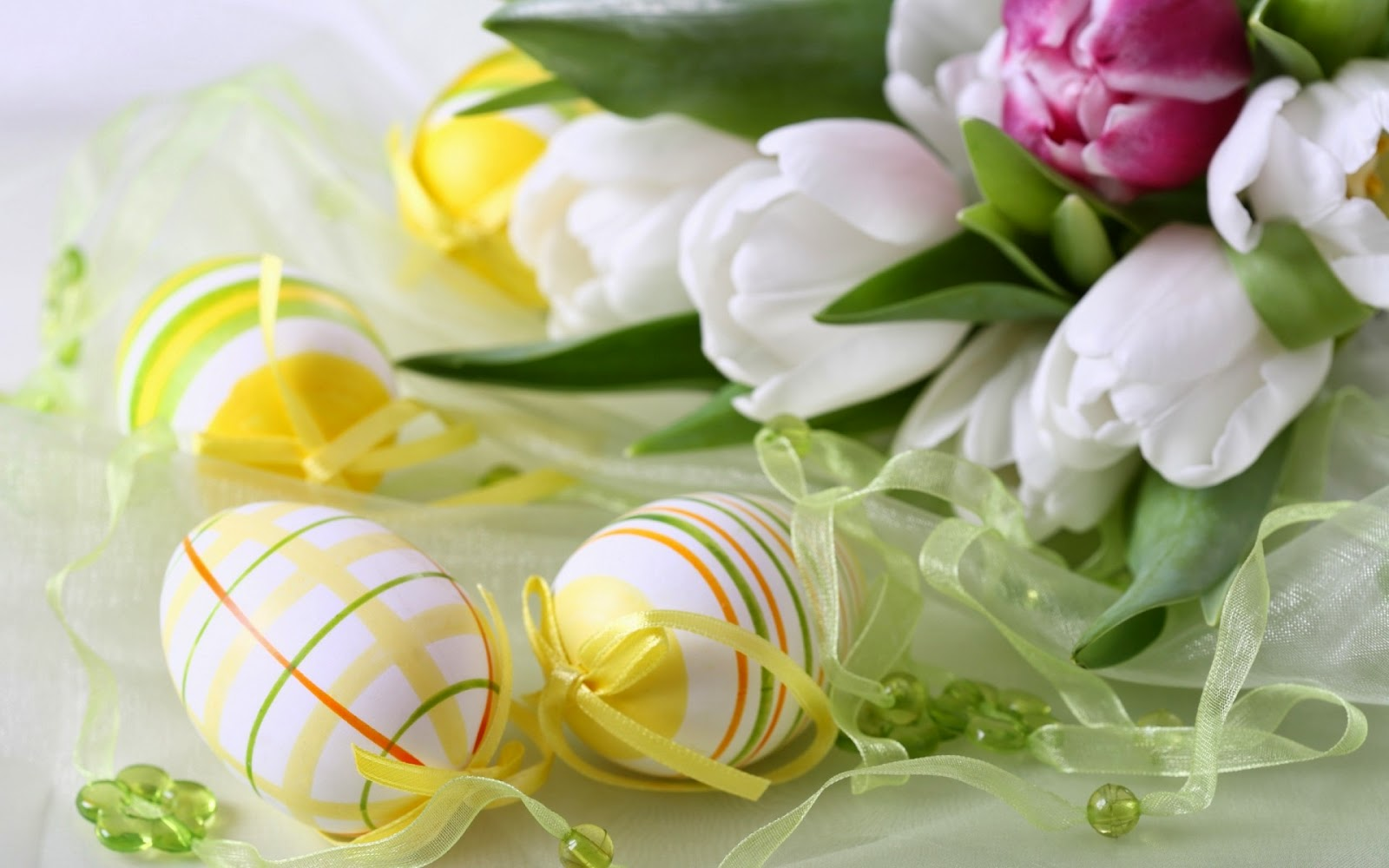 Easter Tulips and Decorations