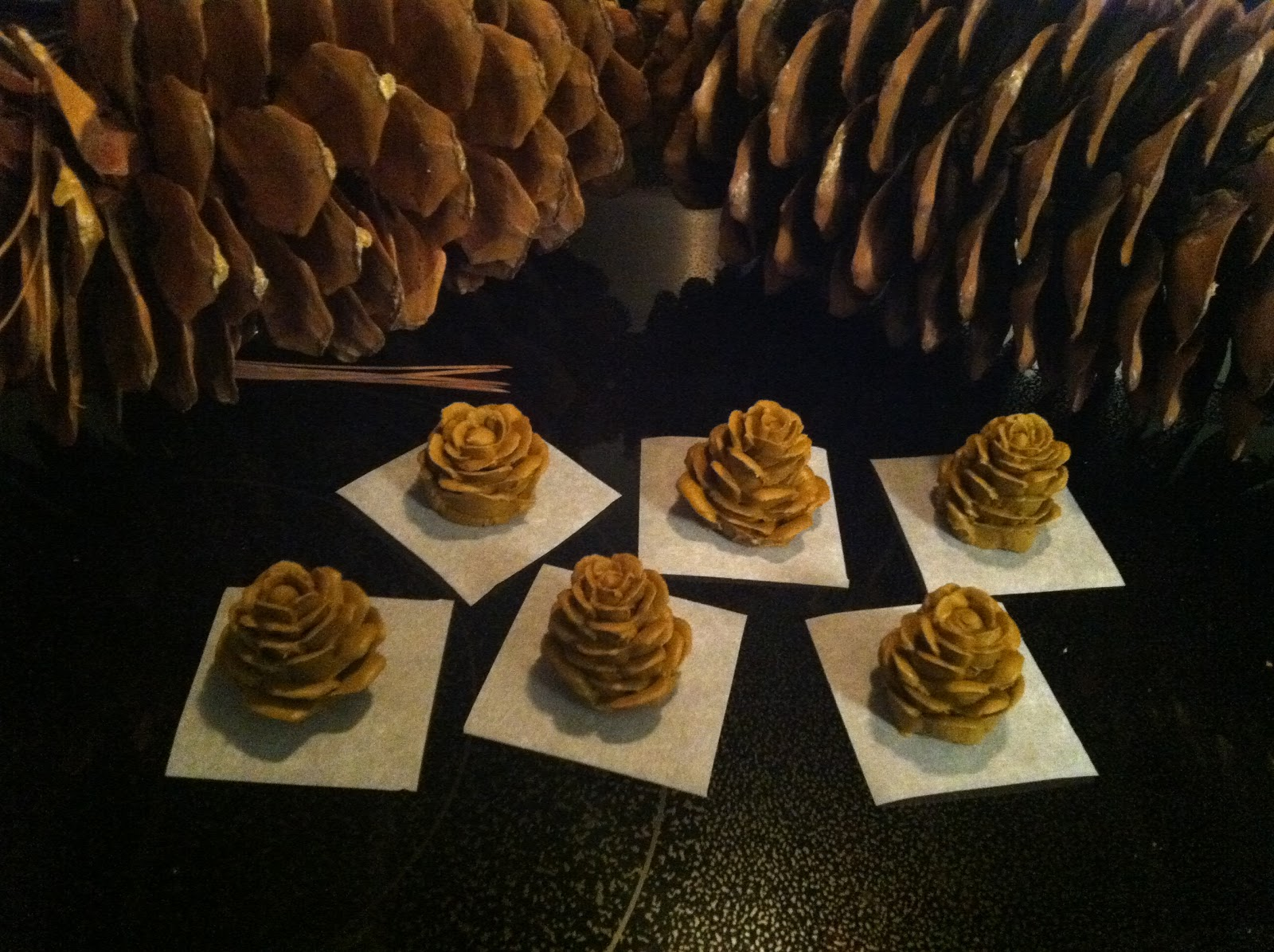 The Iced Queen: Royal Icing Pine Cones