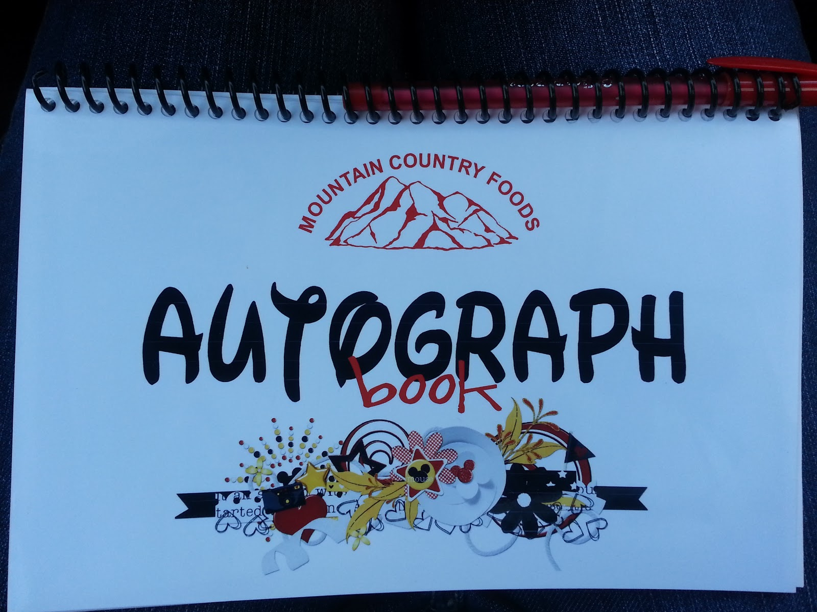 Mountain country foods disneyland autograph books disneyland autograph books each employee will receive 2 autograph books if we have any extra books they will be for sale in the personnel office for 3 publicscrutiny Choice Image
