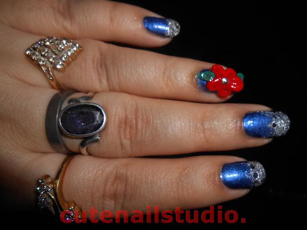 cute nails party nails.festive