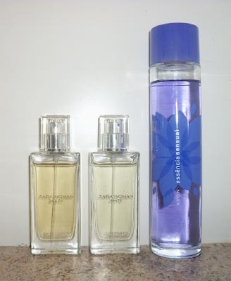 Perfumes Zara e Avon