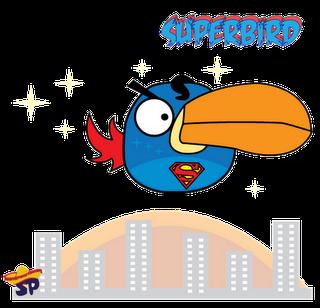 Superman Superheroes estilo Angry Birds