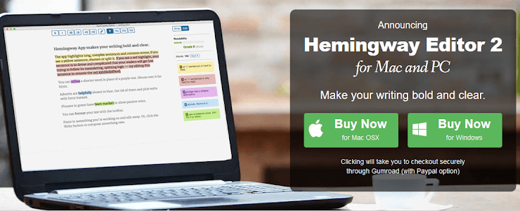 Hemingway editor for writers