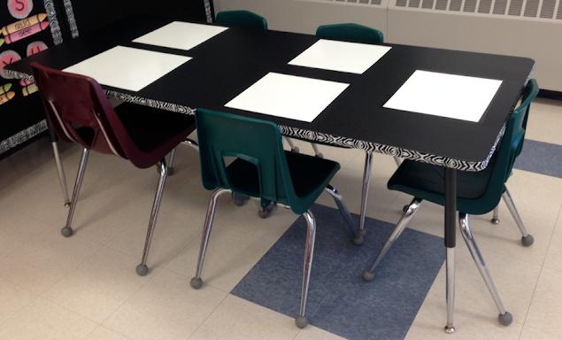 diy dry erase tables