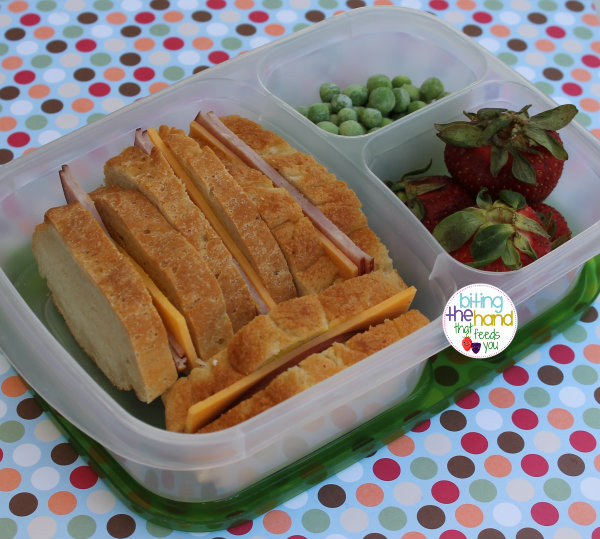 sandwich ham cheese preschool work bento