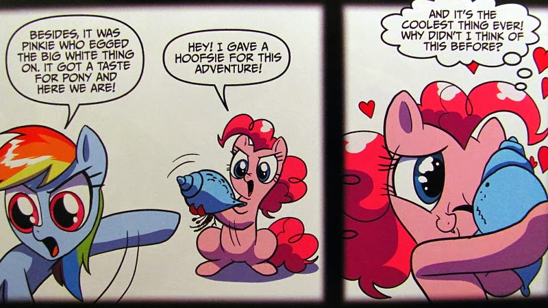 Rainbow and Pinkie Pie in the whiteness