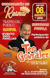PRESENTACION DEL CARTEL HUEYAPAN PUEBLA FERIA 2019 DEL 8 AL11 DE AGOSTO