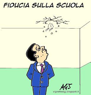renzi, #labuonascuola, fiducia satira vignetta